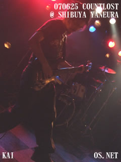 2007/06/25 COUNTLOST@渋谷屋根裏:甲斐